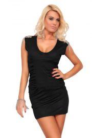 Sort kjole med skulderpynt