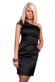 Elegant enskuldret kjole, str. L