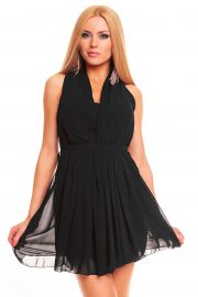 Sort kjole med plisseret detaljer