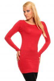 Rød bluse med snøre detaljer
