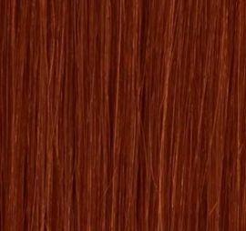 Hair extensions 65 cm 100 gr. luksus hår #33 mørkerød