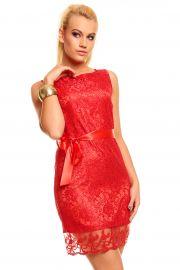 Rød blonde kjole