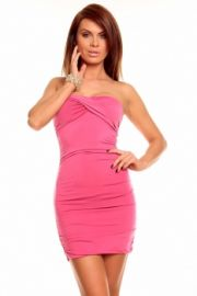 Pink bandeau kjole