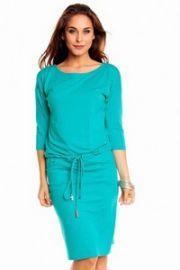 Grøn kjole med bindebånd