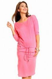 Knælang pink kjole