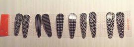 5 Par Mønstrede hårspænder
