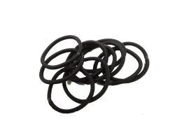 sorte hår elastikker