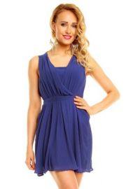 Sød mørkeblå kjole