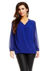 Blå bluse