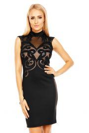 Sort kjole med flot bryst