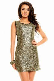 Kjole med guld palietter