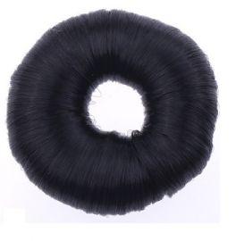 sort hår knold