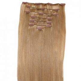 Hair extensions 40 cm - lys brun #18