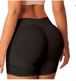 Butt lifter shorts med udtagelige indlæg  - Numseløft