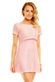 Sød kjole med stribet effekt