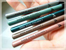 Khol eyeliners forkellige farver