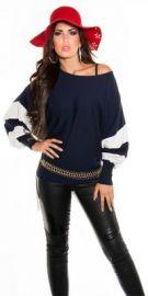 Oversize bluse i mørkeblå