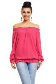 Pink Bluse med åben ryg
