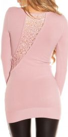 Rosa bluse med flotte detaljer