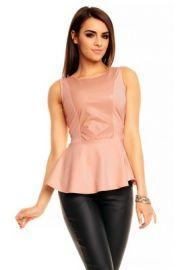 Figursyet rosafarvet top