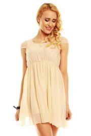 Beigefarvet sød kjole