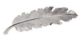 Hårspænde sølvfjer