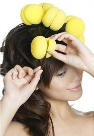 Hair Sponge Curler Balls - En mappe indeholder 6 stk.