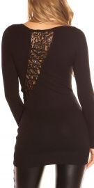 Sort bluse med flotte detaljer på ryggen