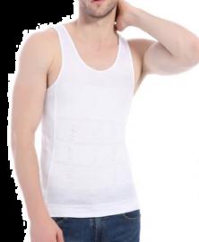 Hvid shapewear undertrøje til mænd